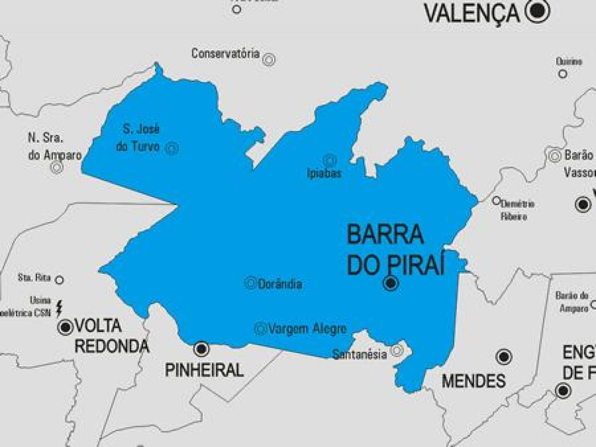 Kaart van Barra do Piraí gemeente